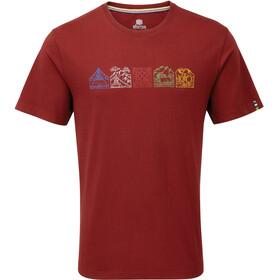 Sherpa Lungta t-shirt Heren rood